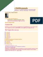 Raghu Ram Chittibommala Company Law Problems and Solutions