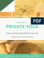 Teaching Private Yoga