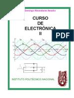 Curso de Electrónica II  Ing. Domingo Almendares Amador
