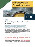 Control de Riesgos en Obras de Construcción de Túneles