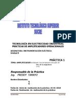 Práctica 1 Prácticas Amplificadores Operacionales