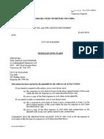 NPR GP's civil claim against the City of Nanaimo