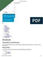 PostgreSQL Downloads