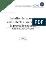 La Inflación, Que Es y Cómo Afecta Al Cálculo de La Prima de Seguros.