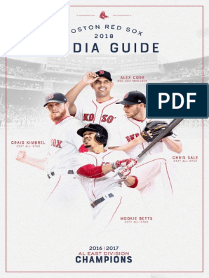 2018 BOS Media Guide | Boston Red Sox | Fenway Park