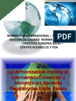 Normativa Internacional ISO-13485 CertificacionesCEyFDA