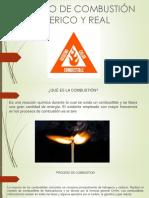 1.2 Procesos de Combustion Teoricos y Reales Angel Vicente Muñoz Ordoñez