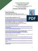 Formato Datos educador