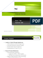 PowerFile Corporate Overview 11SEP09