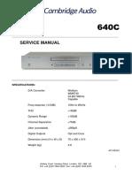 Cambridge Audio Azur 640c Service manual