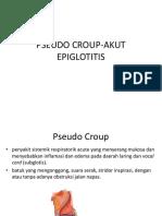 Pseudo Croup-Akut Epiglotitis