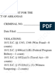 Federal Criminal Indictment - US v. Judge Joseph Boeckmann - Wire Fraud, Honest Services Fraud, Travel Act, Witness Tampering - US District Court Eastern District of Arkansas