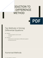 Introduction to Finite Difference Method