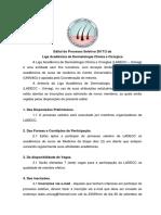 Edital Processo Seletivo LADECC