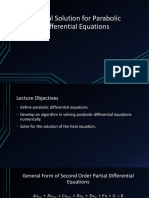 Numerical Solution for Parabolic Partial Differential Equations