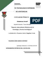 Reporte, Antecedentes Históricos de la Sociología y Teorías Sociológicas