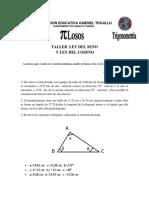 Taller Ley Seno y Coseno (1)