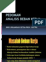 Analisis Beban Kerja Dan Perhitungannya 2012