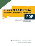Libro Voces de La Cultura