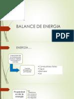 Balance de Energia