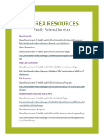 area resources-family related services