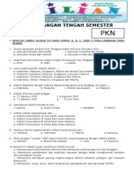 Soal UTS PKN Kelas 6 SD Semester 2