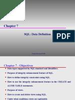 11 SQL Data Definition Ch07