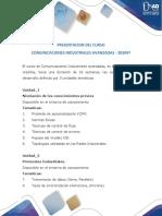 Presentacion Del Curso Comunicaciones Industriales Avanzadas