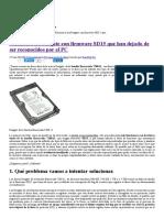 Solución a Los Seagate Con Firmware SD15 Que Han Dejado de Ser Reconocidos Por El PC