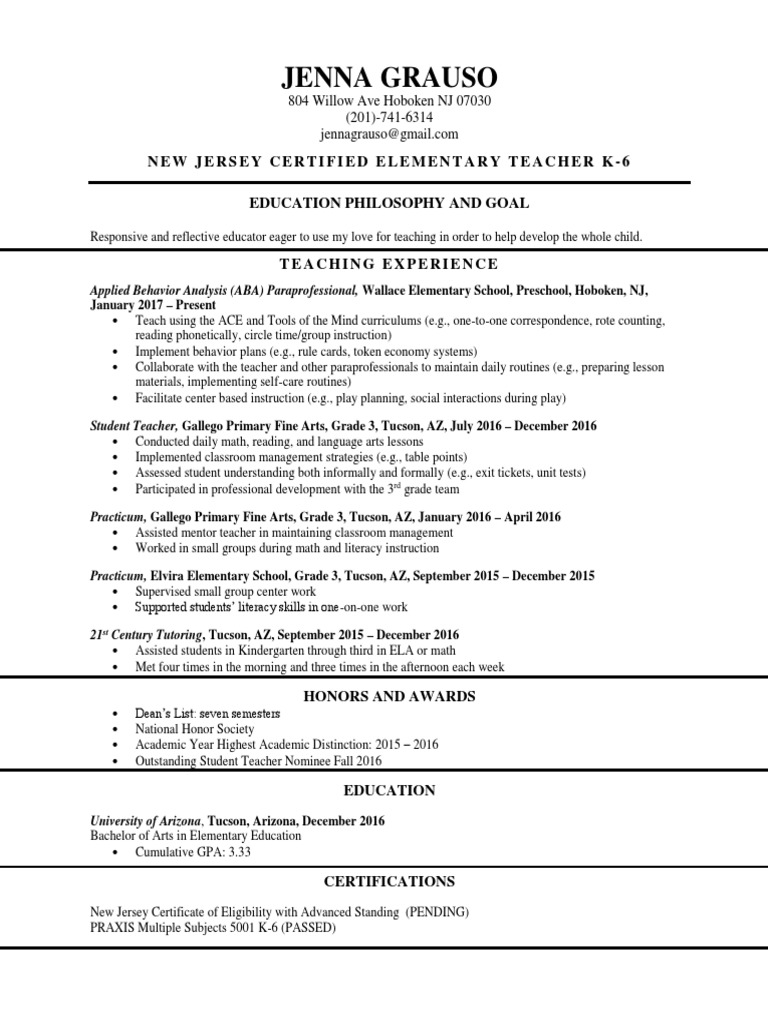 Resume 2 teachers classroom management 1betcityfo Images