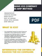 Determining ICO Company Using AHP
