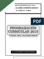 Planificacion Anual PFRH
