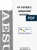 Yaesu FT-757GXII Operating Manual