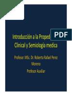 Introduccion a La Propedeutica Clinica y Semiologia Medica