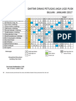 contoh jadual dinas