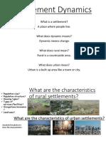 L1 - Rural Settlement Change LICs