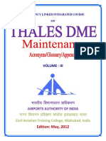 DME Vol - III Maintenance Thales DME