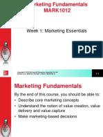 Week 1 Marketing Essentials