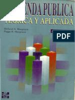 Musgrave R. 1995 Cap.1,  2 y 3 Hacienda Pública