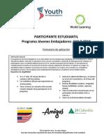 YoutAmbassadors2018-Colombia Inbound Student Application-FINAL