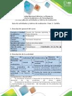 Guía de Actividades y Rubrica de Evaluación - Fase 1- Cartilla