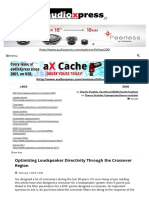 Optimizing Loudspeaker Directivity Through the Crossover Region
