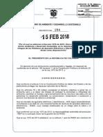 Decreto 284 Del 15 Febrero de 2018