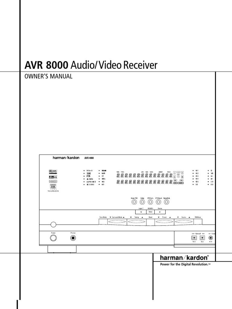 5646cbd15136713d Avr 8000 Om Final Rev 12 18 01 Video Digital Mp 202 Kenwood Model Kdc Wiring Diagram Television