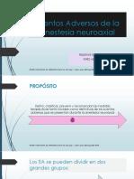 Eventos Adversos de La Anestesia Neuroaxial