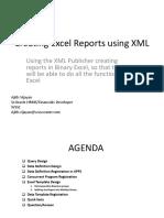 Creating Excel Report Using XML
