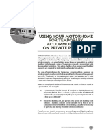 Using Your Motorhome as Temporary Accommodation (April 2014)