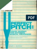 David Lucas Burge - Pefect Pitch - Color Hearing
