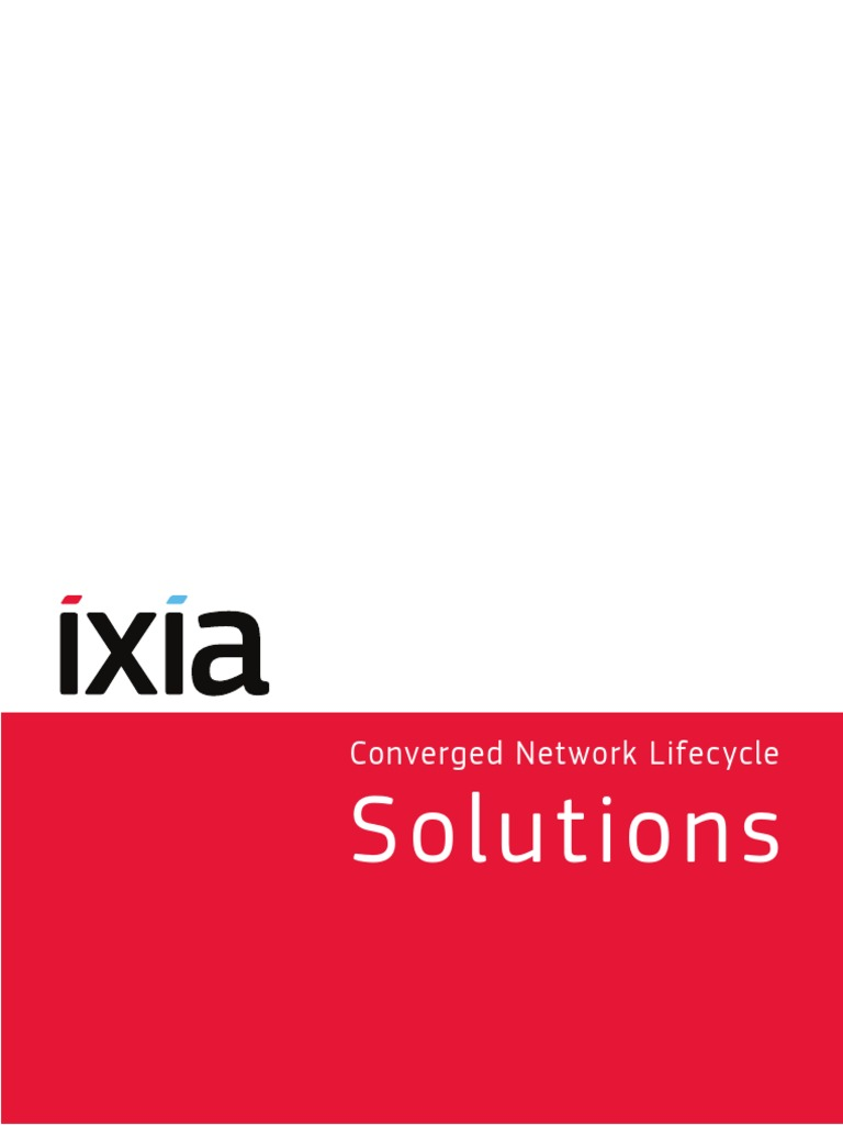 Ixia Solutions Brochure | I Pv6 | Multiprotocol Label Switching