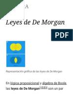 Leyes de de Morgan - Wikipedia, La Enciclopedia Libre